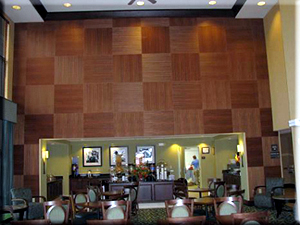 Marriott Hotel Mystic CT Lounge - Wood Wall Covering, painter CT